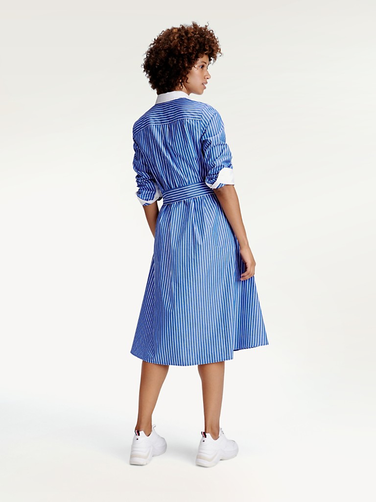 Icon Stripe Shirtdress