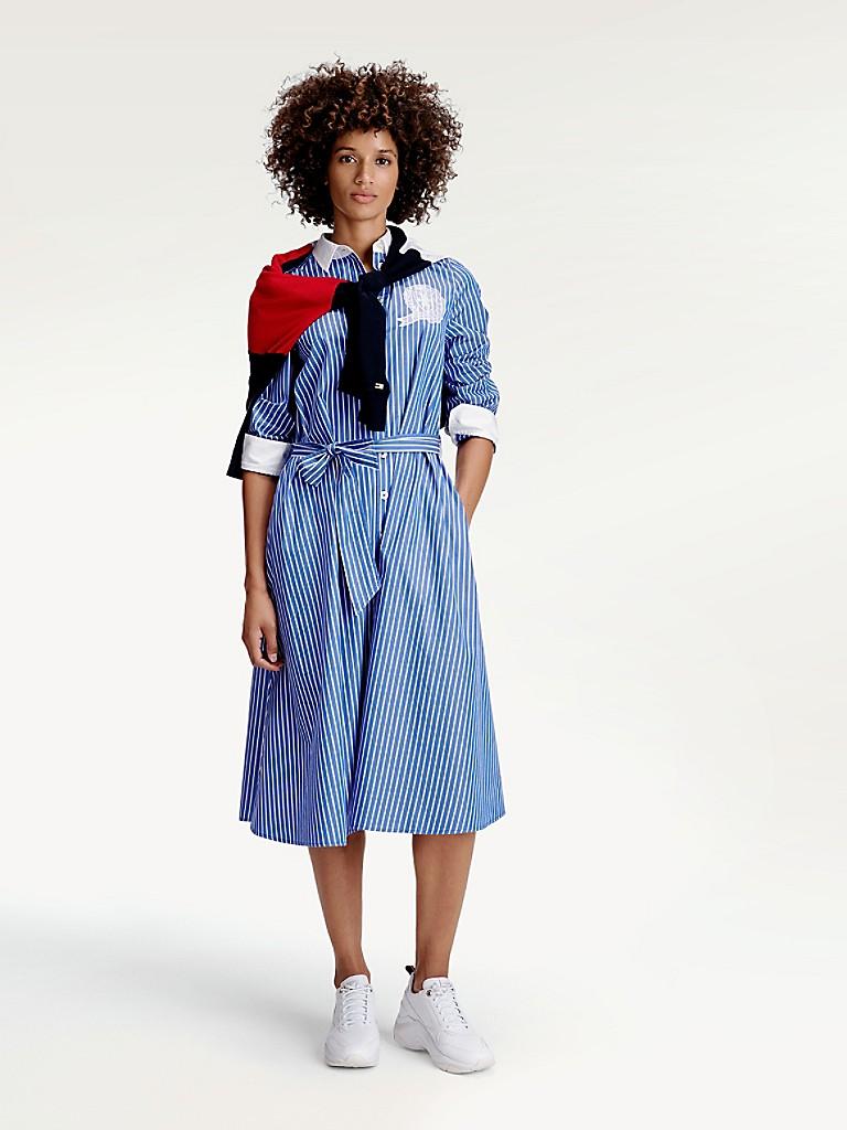 Icon Stripe Shirtdress