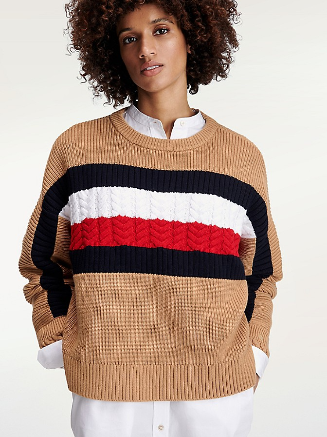 NEW TO SALE Icon Organic Cotton Stripe Sweater
