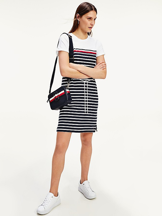 NEW Short-Sleeve Stripe Dress