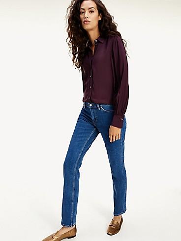 타미 힐피거 Tommy Hilfiger Straight Fit Medium Wash Jean,INDIGO