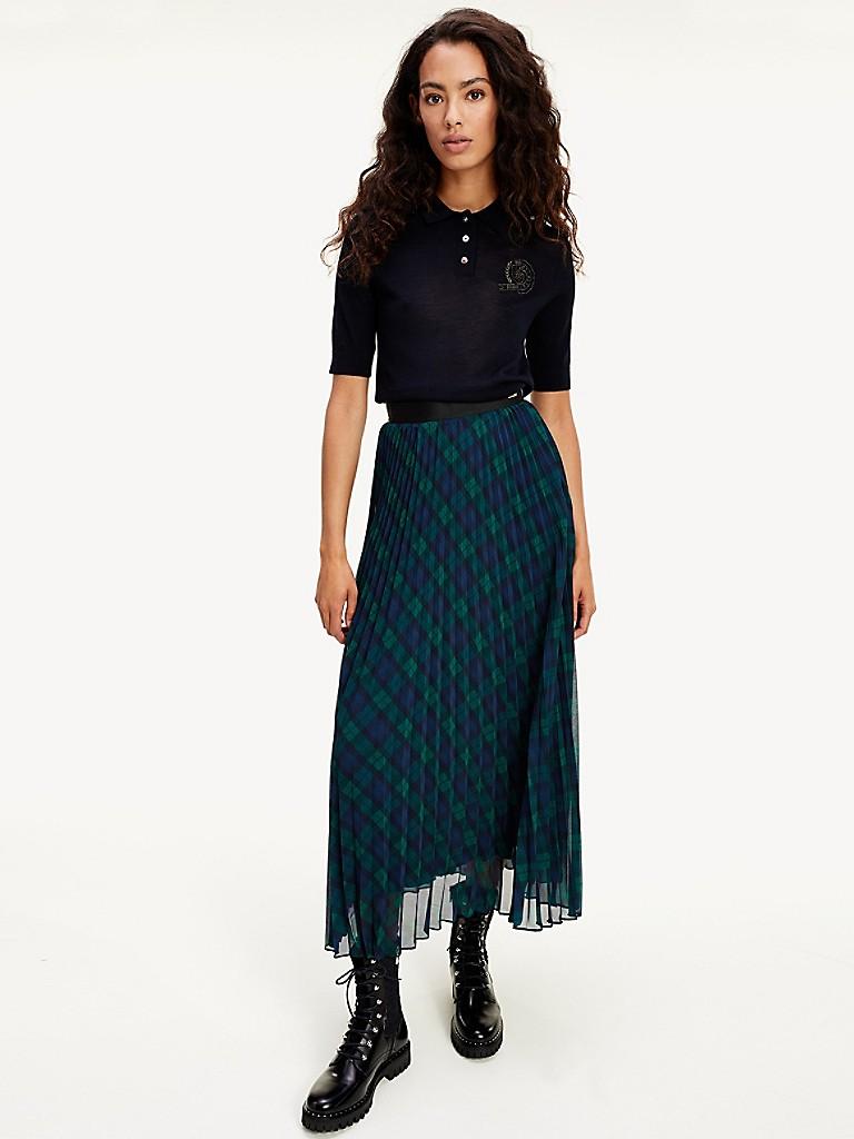 NEW Icon Pleated Midi Skirt