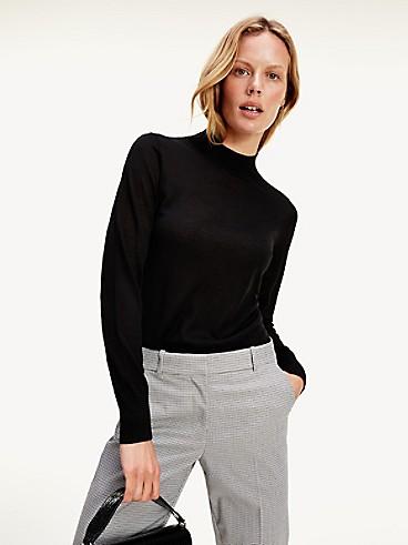 타미 힐피거 Tommy Hilfiger Slim Fit Wool Mock Turtleneck Sweater