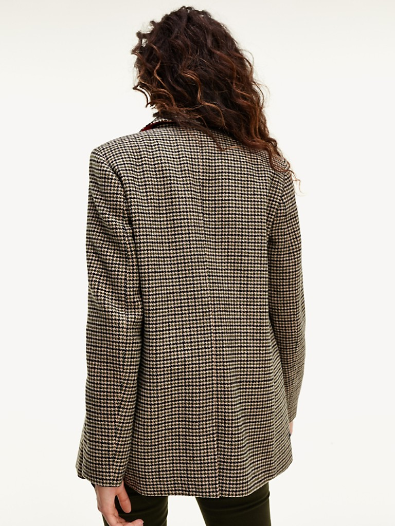 NEW Wool Houndstooth Hip Coat