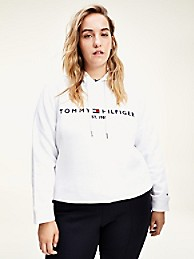 Curve Relaxed Fit Logo Hoodie | Tommy Hilfiger