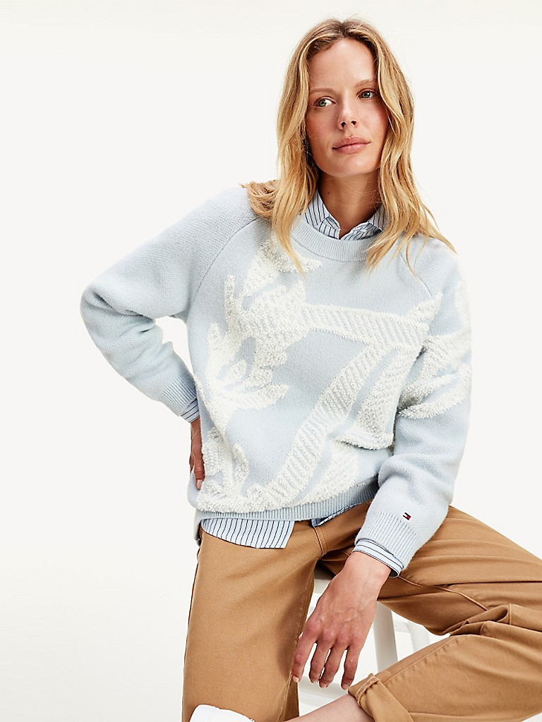 Organic Cotton Floral Monogram Sweater