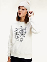 Crest Crewneck Sweatshirt | Tommy Hilfiger