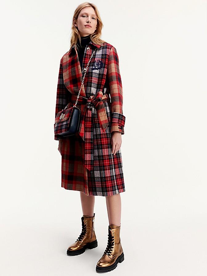 NEW Icon Wool Check Mac Coat