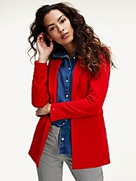 타미 힐피거 Tommy Hilfiger Fluid Twill Blazer,PRIMARY RED