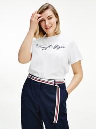 Curve Organic Cotton Logo T-Shirt | Tommy Hilfiger