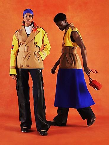 타미 힐피거 트렌치 코트 Tommy Hilfiger TOMMYXROMEO Colorblock Trench Coat,countryside khaki/multi