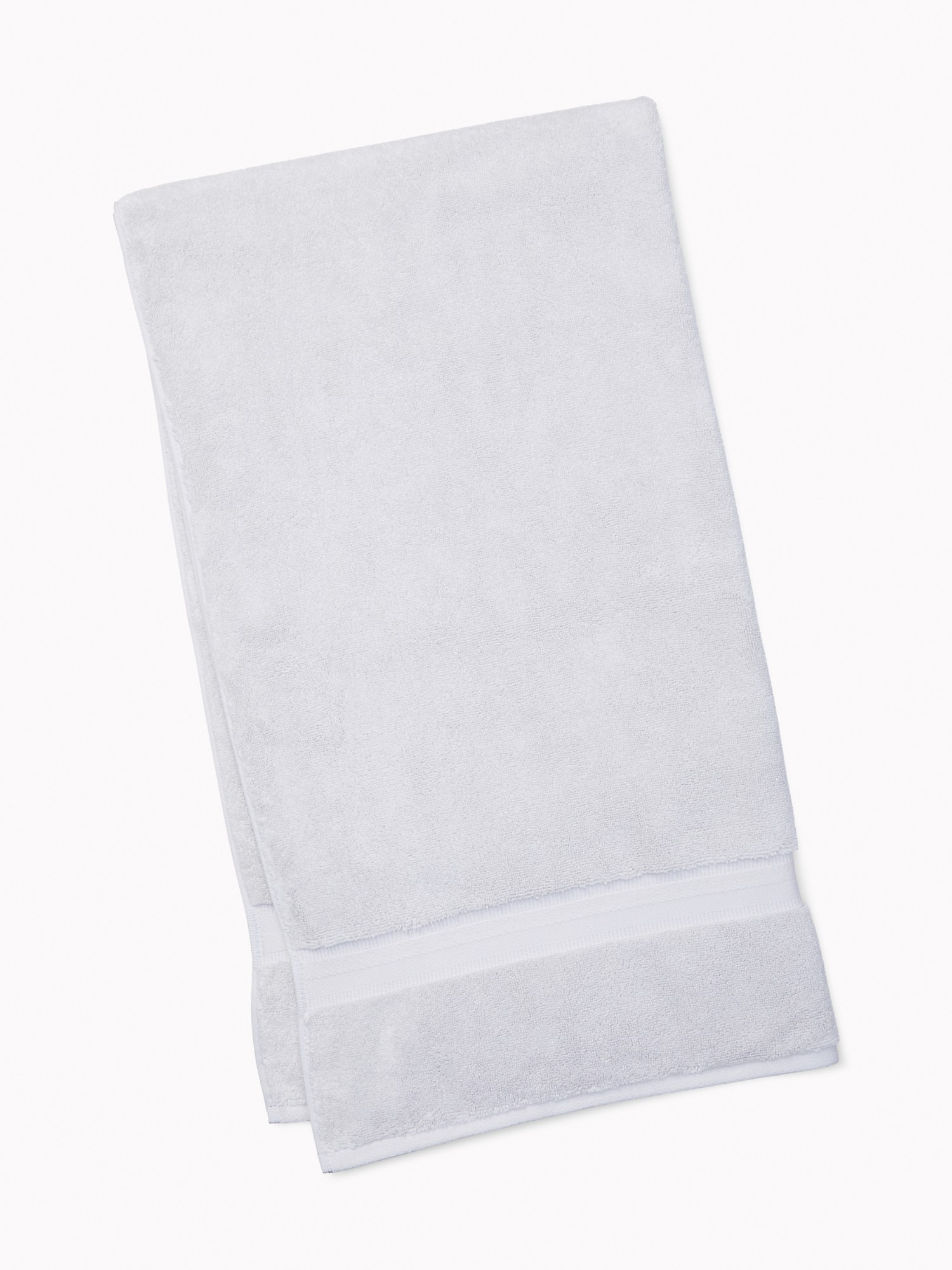 TOMMY HILFIGER Signature Solid Bath Towel in Light Gray