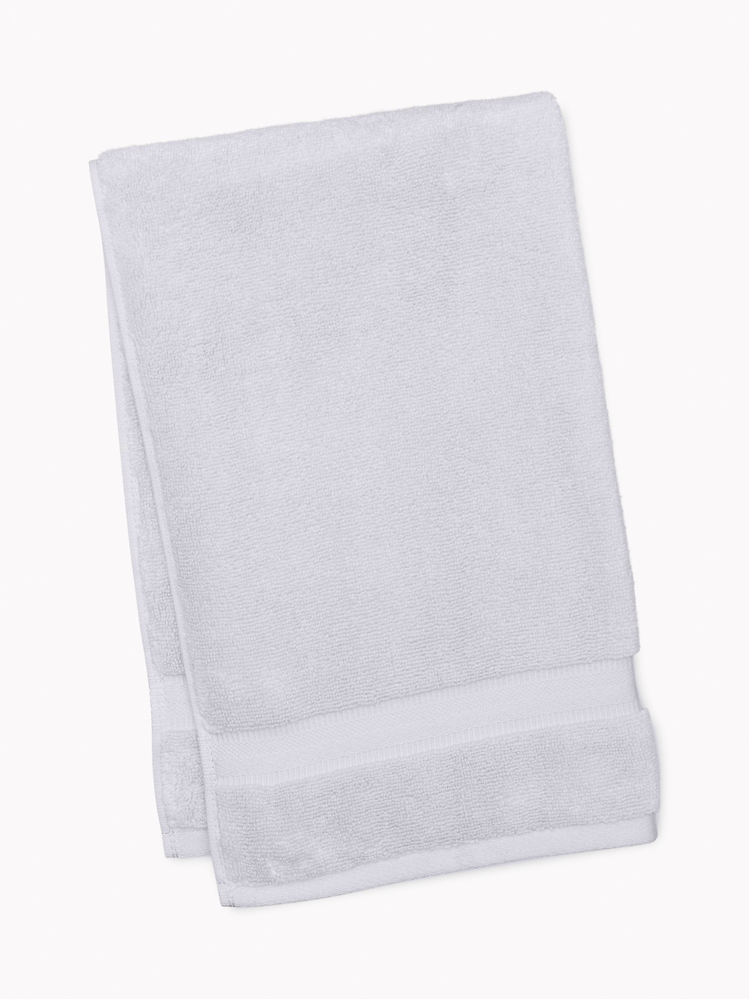 TOMMY HILFIGER Signature Solid Hand Towel in Light Gray