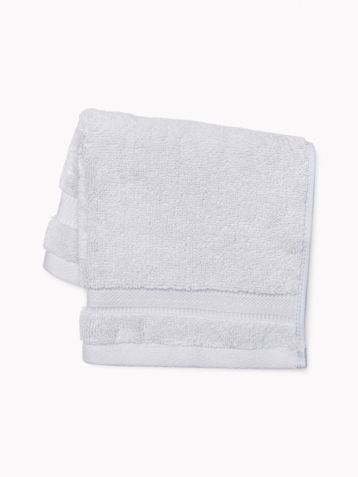 TOMMY HILFIGER Signature Solid Washcloth in Light Gray
