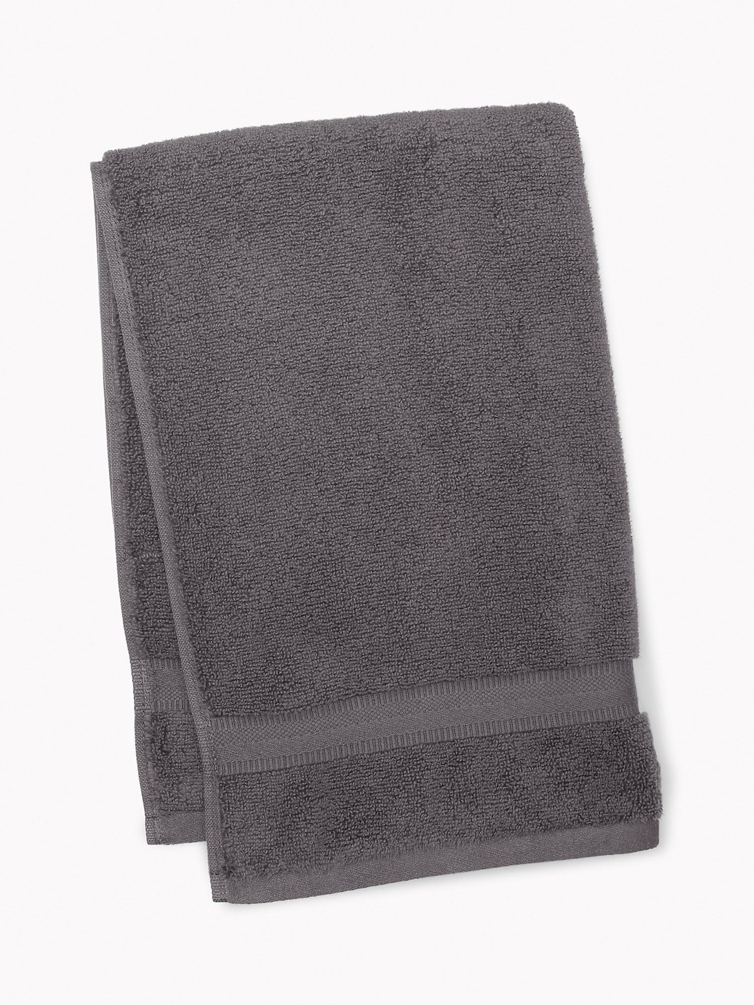 TOMMY HILFIGER Signature Solid Hand Towel in Dark Gray