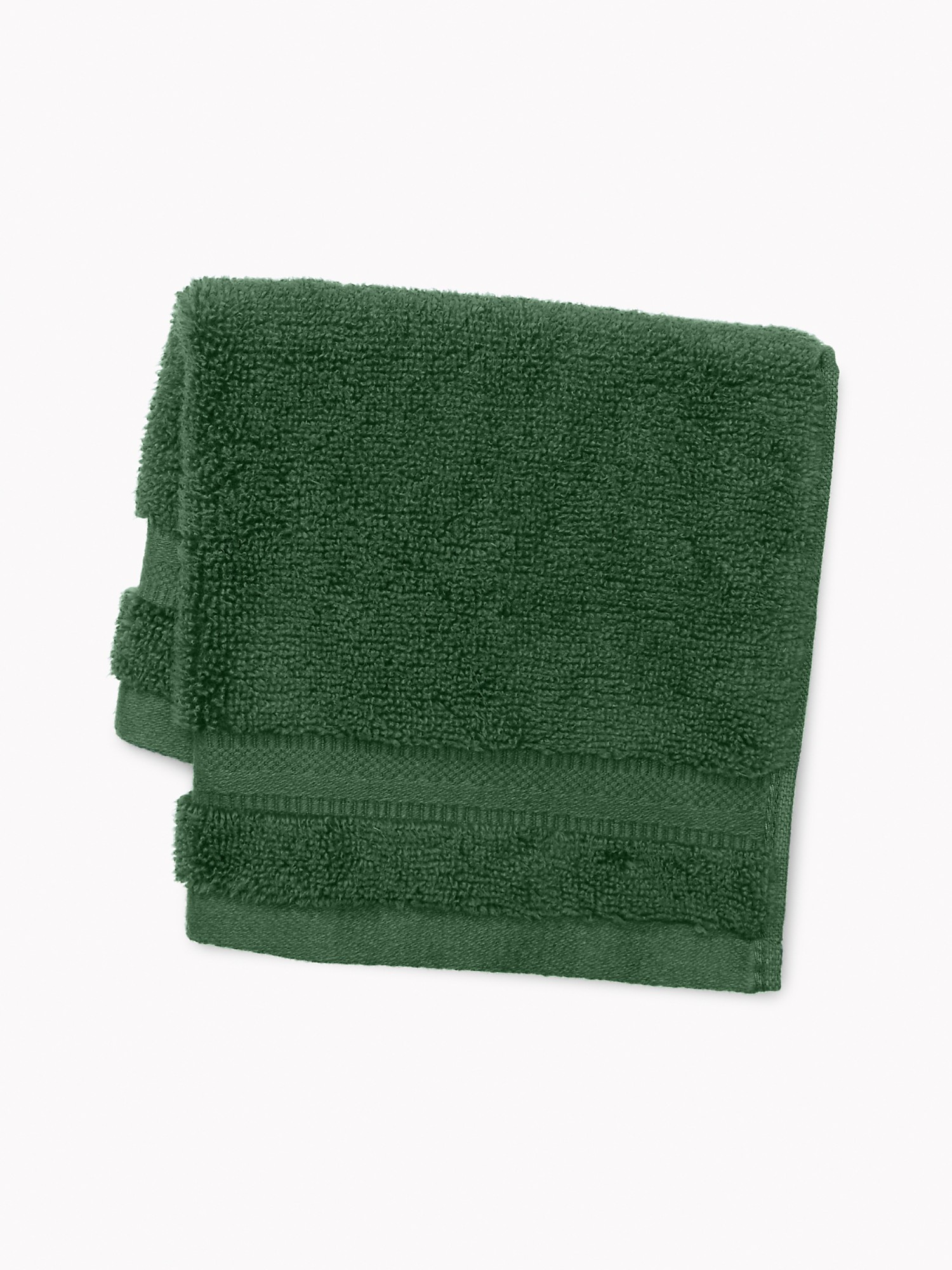 TOMMY HILFIGER Signature Solid Washcloth in Pine Needle