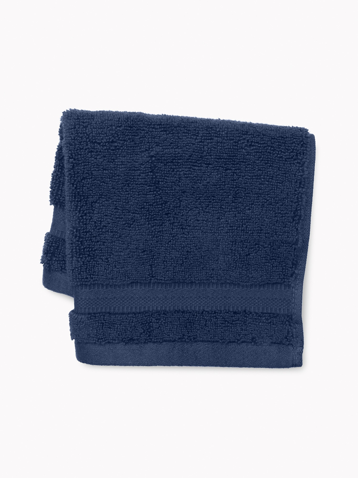 TOMMY HILFIGER Signature Solid Washcloth in Medieval Blue